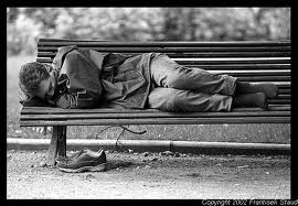 park bench homeless
