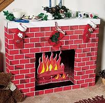 cardboard fireplace