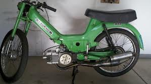 Lime Green Puch Moped