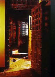 red prison door