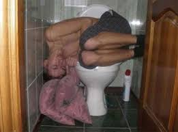 Drunk on toilet