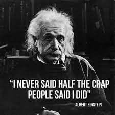 einstein half the crap