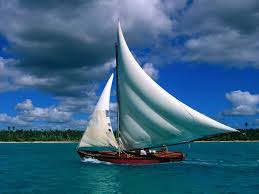 moving sail boat
