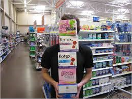 boys buying kotex