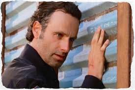 Rick at walking dead wall