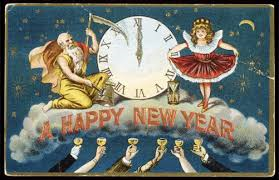 happy new year vintage