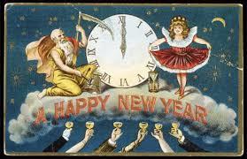 happy new year vintage